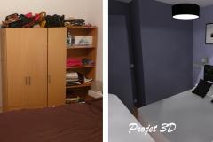 Projection 3D-Chambre vue2 / FEGERSHEIM